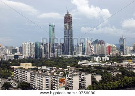 China, Shenzhen City Skyscrapers