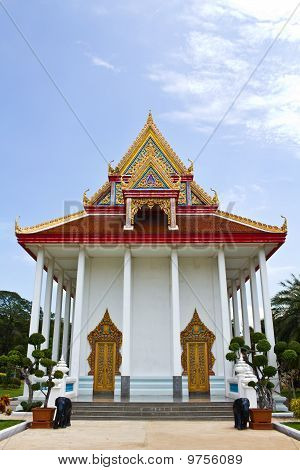 Church In Temple Angthong Thailand