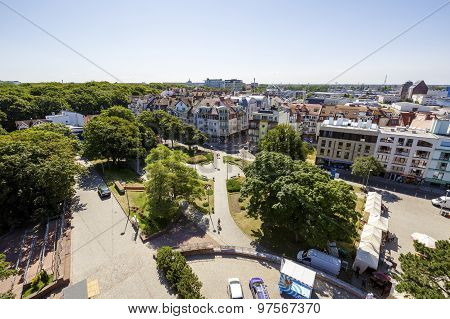 Panorama Of The City Kolobrzeg In Poland