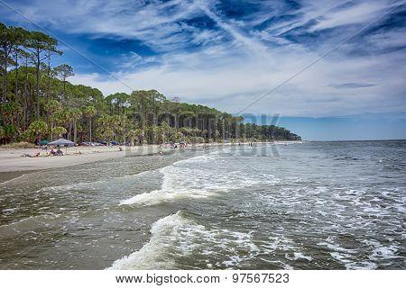 Hunting Island Beach Scenes