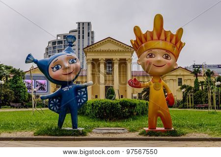 The Mascots Of The Paralympic Winter Games