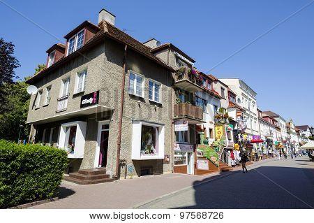 View Into The Street Named St Dubois In Kolobrzeg