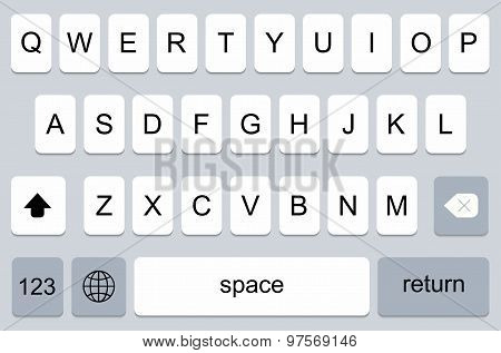 vector modern keyboard of smartphone,
