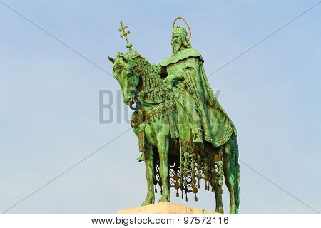 Budapest. Hungary. King Stephen Statue.