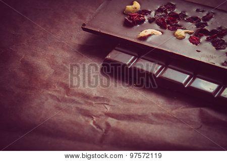 Dark Chocolate In Bars.