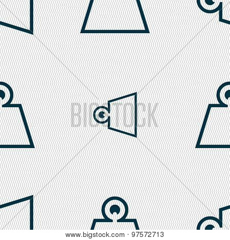 Weight Icon Sign. Seamless Pattern With Geometric Texture. Vector