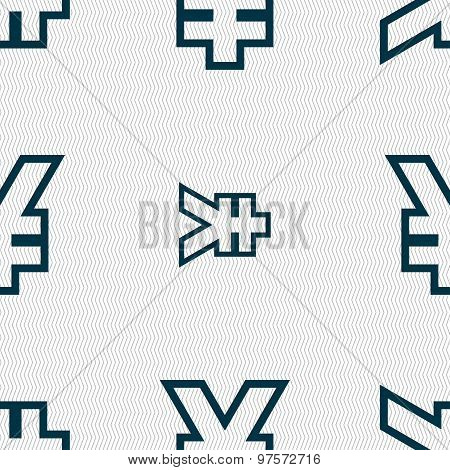 Yen Jpy Icon Sign. Seamless Pattern With Geometric Texture. Vector