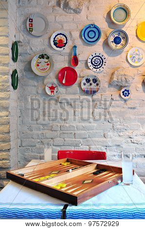 Simple Greek Tavern Interior