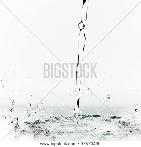 Big water splash isolated on white background