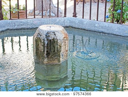 Wishing Well And Fountain
