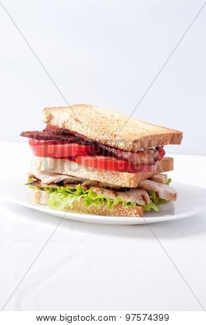 Clubhouse Sandwich With Crispy Fries