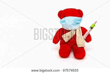 Bear Playing A Doctor.