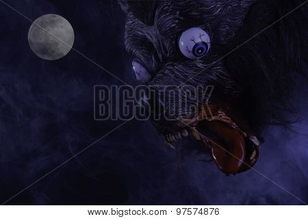 Scary Werewolf During Full Moon