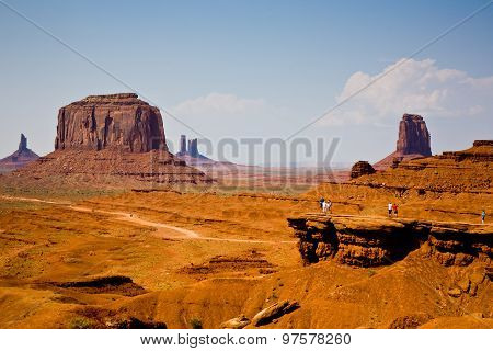 Famous Scenic Butte In Monument Valley