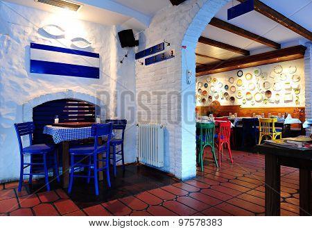 Stylish Greek Tavern Interior