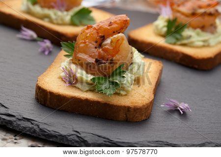 Grilled Shrimp Canape