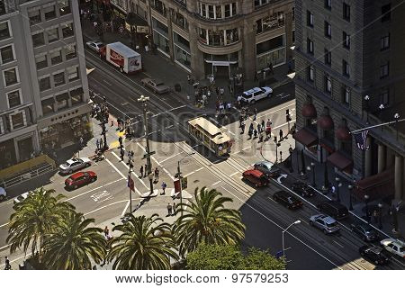 Streets Of San Francisco Seen From A Sky Scraper