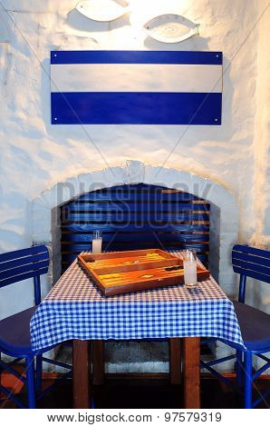 Greek Restaurant / Coffee Shop Interior