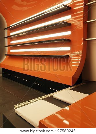 Modern Shelves in an Office