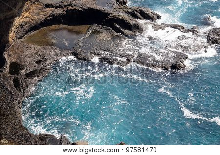 Lagoon By The Cliff