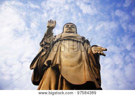 A Giant Bronze Buddha Statue