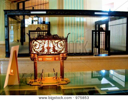 Traditional Bank Teller Window