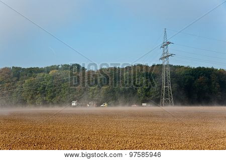A Pylon Will Be Setted Up In Foggy Weather