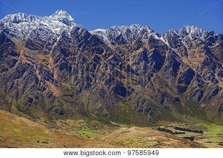 Mountain Scenery In New Zealand