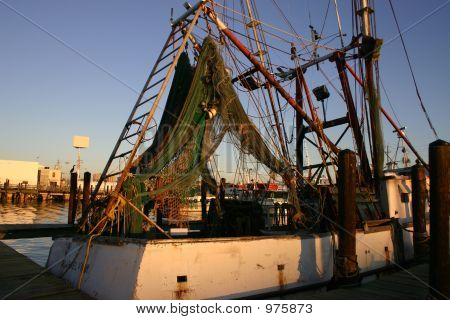 Old Fishing Boat Galveston