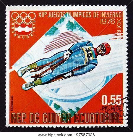 Postage Stamp Equatorial Guinea 1976 Luge