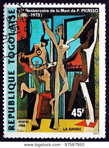 Postage Stamp Togo 1988 The Dance, By Pablo Picasso