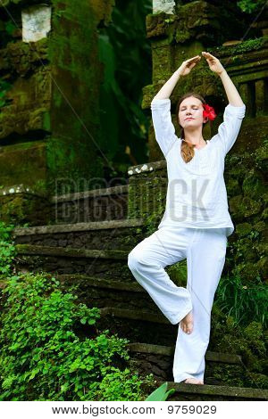 Beautiful Woman Practicing Yoga