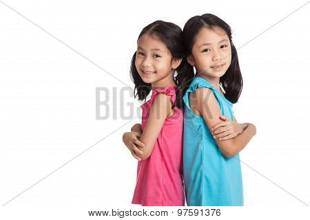 Happy Asian Twins Girls  Smile