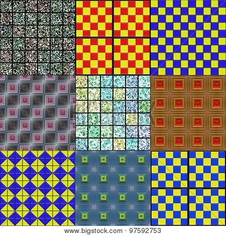 Set of Tiles Seamless Generated Textures