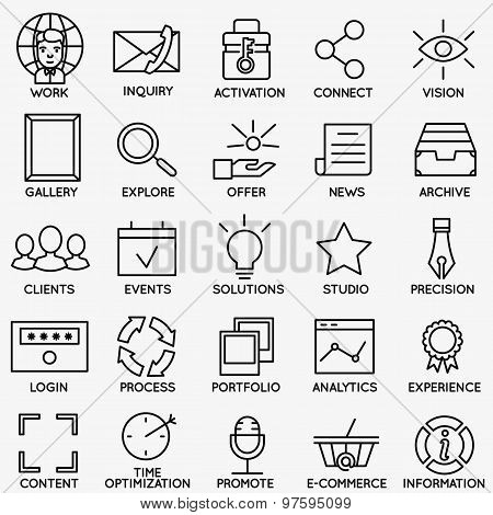 Set Of Seo And Internet Service Icons - Part 7