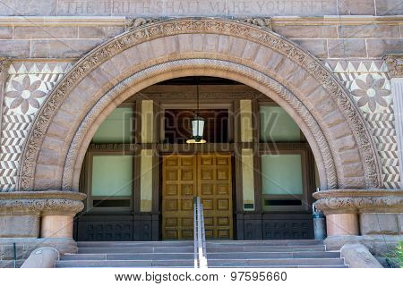 Entrance detail to the Conservatory of Music in Toronto