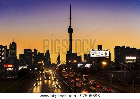 Toronto Skyline from the QEW