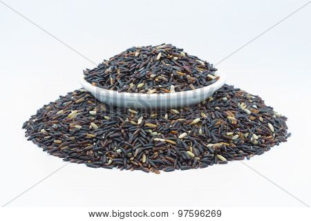 Coarse organic black rice