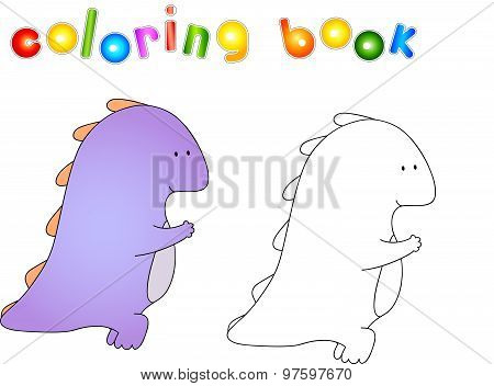 Crummy Bellied Dragon Doing Exercises: Lifting Weights. Coloring Book About Healthy Lifestyle For Ch