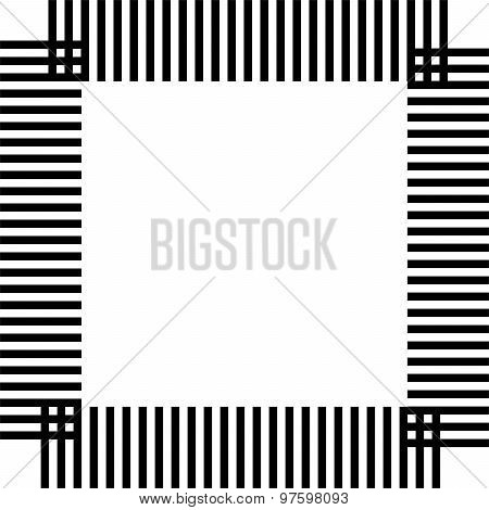 Black band square abstract geometric pattern