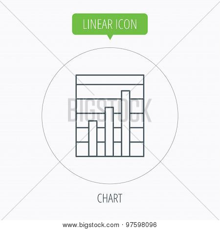 Chart icon. Graph diagram sign.