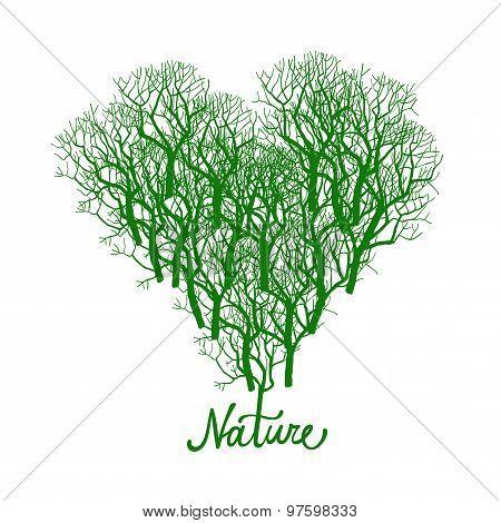 Heart Shape Tree Logo