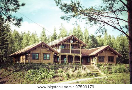 House on hill, Forest, Finland