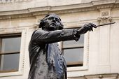 stock photo of burlington  - Historic bronze statue of the Georgian artist Sir Joshua Reynolds - JPG