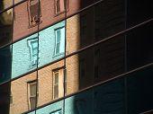 Reflective Glass Skyscraper Detail