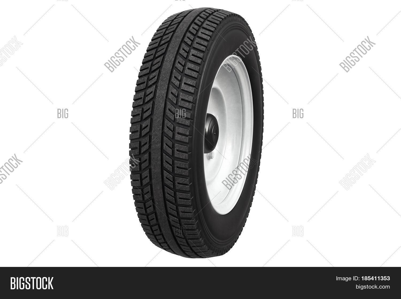 wheel retro car rubber tire classic design 3d rendering stock photo stock images bigstock. Black Bedroom Furniture Sets. Home Design Ideas
