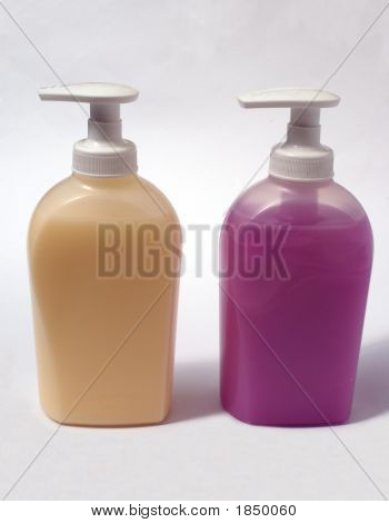 Bottles Or Containers Of Handwash/  Liquid Soap. Hygiene