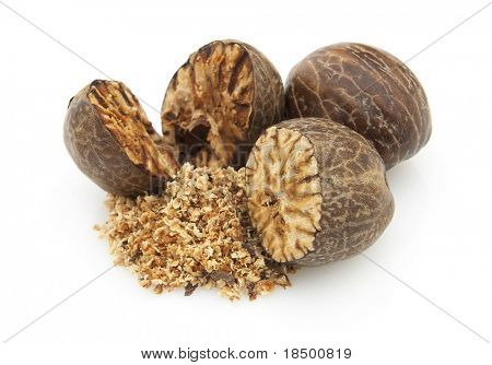 Dried nutmeg