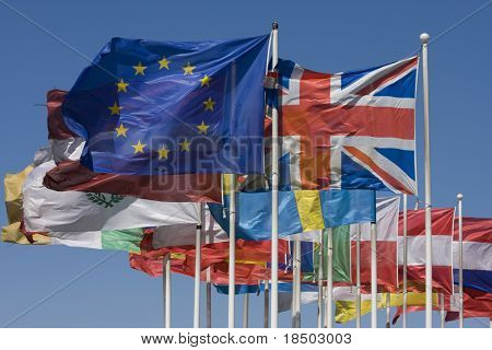 Flags of the EU
