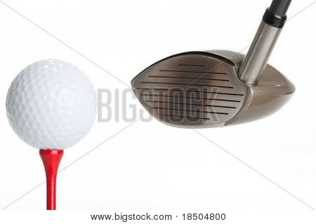 Golf - isolated Golfball on a Tee